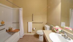 Bathroom with tile floors at Stallion Pointe