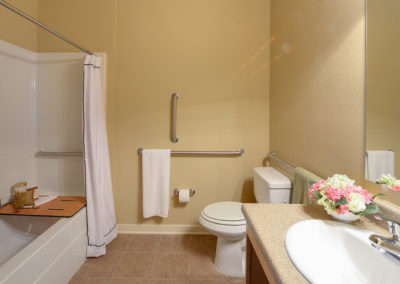 Bathroom with tile floors at Stallion Pointe