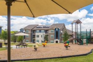 Stallion Pointe apartments playground in Everman, TX