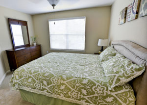 Master bedroom at Stallion Pointe Apartments with carpet flooring