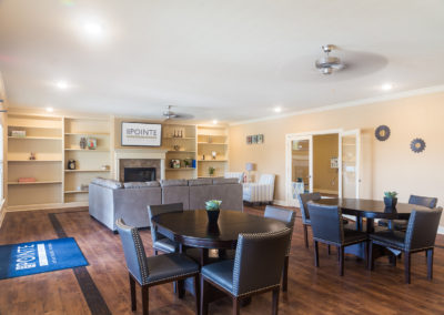 Community room at Stallion Pointe clubhouse in Everman, TX