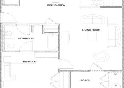Pharoah – 1 bedroom 1 bath 850 sq ft