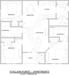 Stallion Pointe 3-bedroom floor plan
