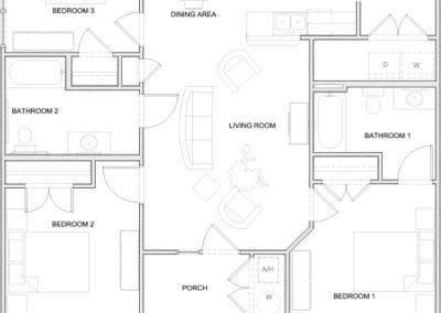 Seabiscuit- 3 bedroom 2 bath 1185 sq ft