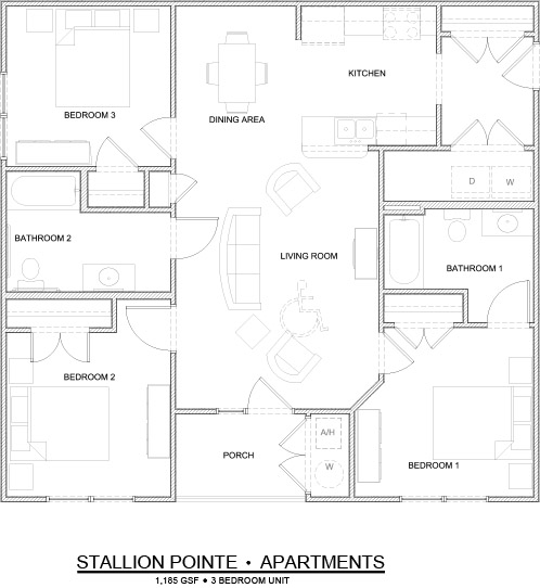 Stallion Pointe 3-bedroom floorplan